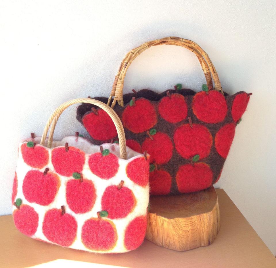 羊毛ラボ りんごのバッグ2